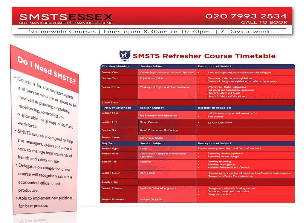 Site Management Safety Training Scheme Course Centre Essex