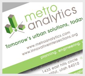 Metro Analytics Logo and Business Card Design