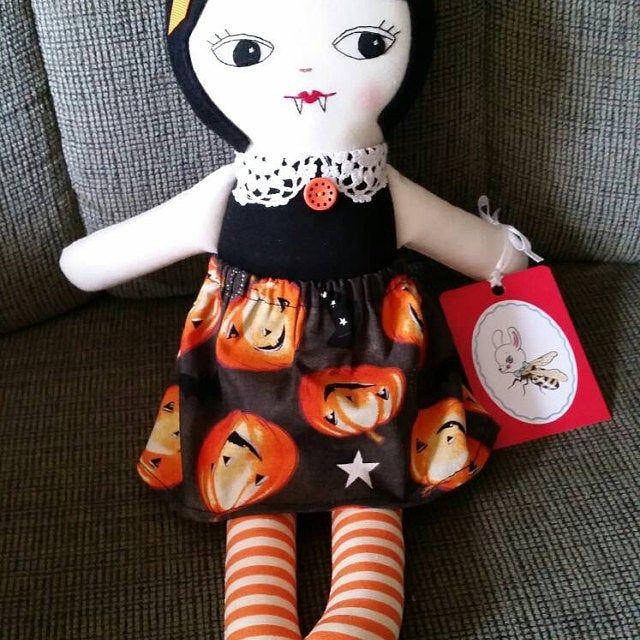 Vintage-inspired stuffed Bunny Plush - Handmade cloth doll Rabbit Plushie baby toy toddler toy #bunnyplush
