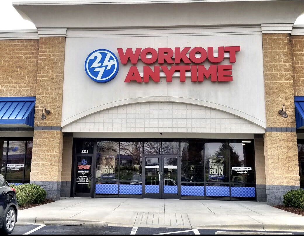 Kannapolis Concord North Carolina Anytime Fitness Workout Strength Training Equipment