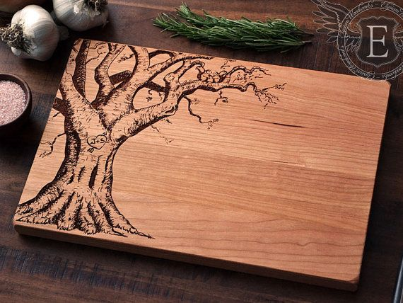 Personalized Wedding Gift Custom Engraved Wood by ElysiumWoodworks