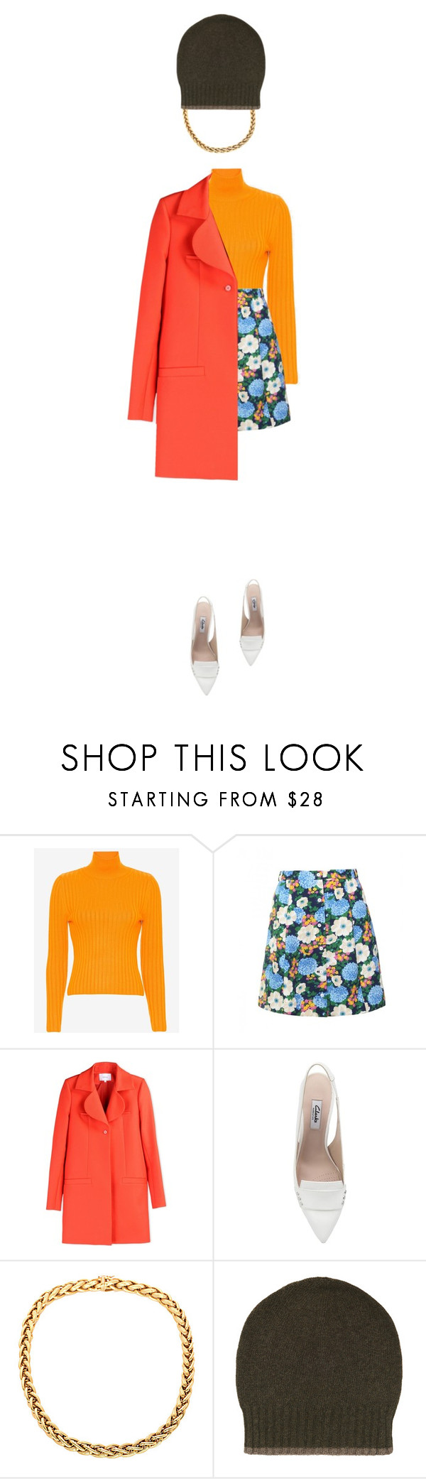 """""""Untitled #2304"""" by misnik ❤ liked on Polyvore featuring Carven, Clarks and FAY"""