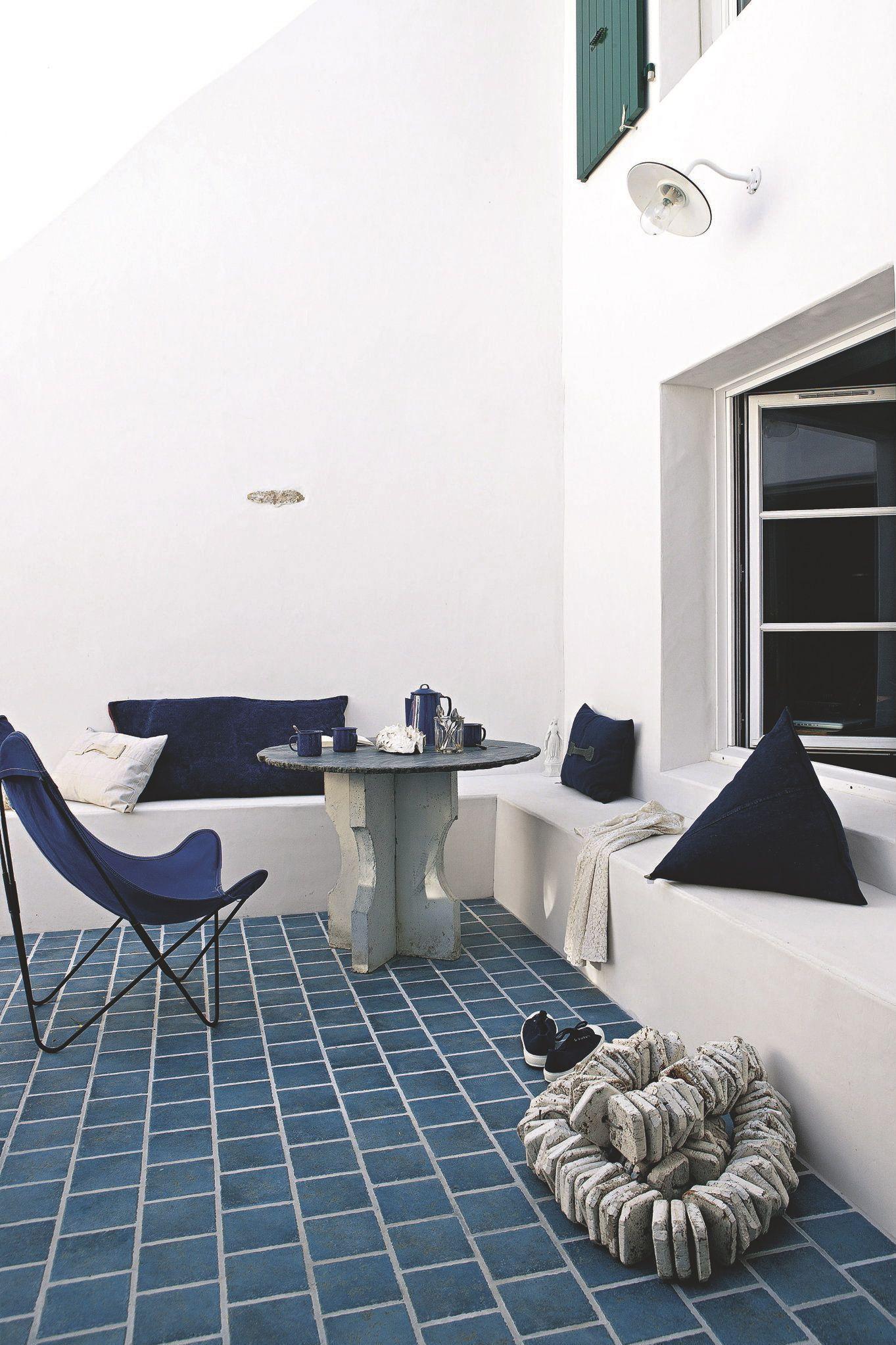 patio-grec-idées-déco-bord-de-mer | My Houch ... | Pinterest