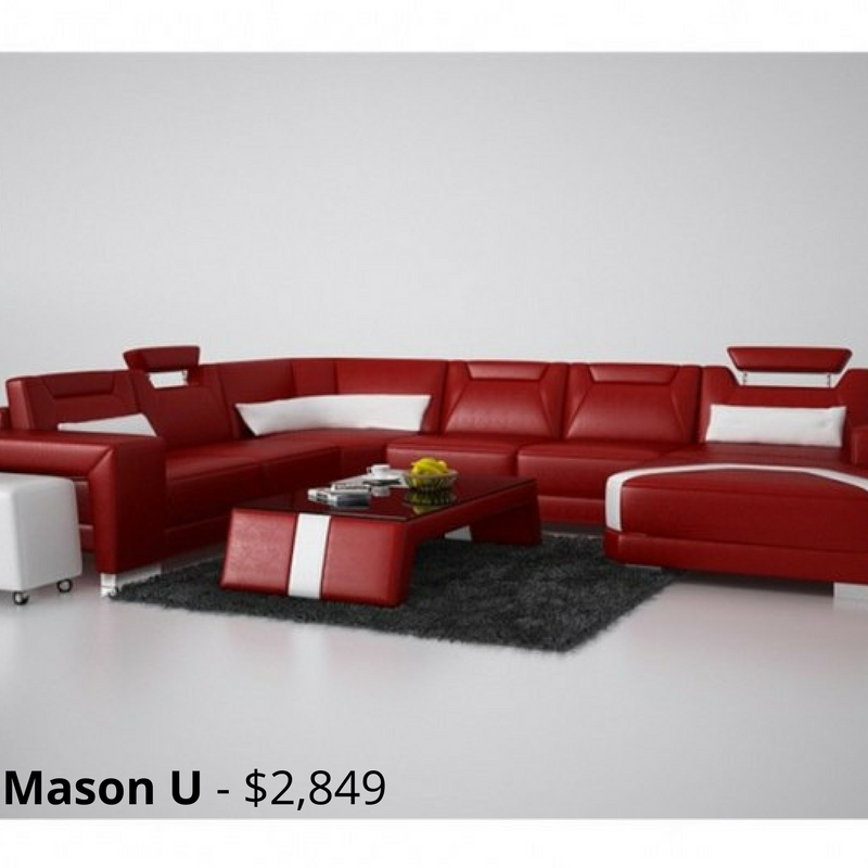 Mason U Leather Sofa Modular Lounge Is Uniquely Designed With