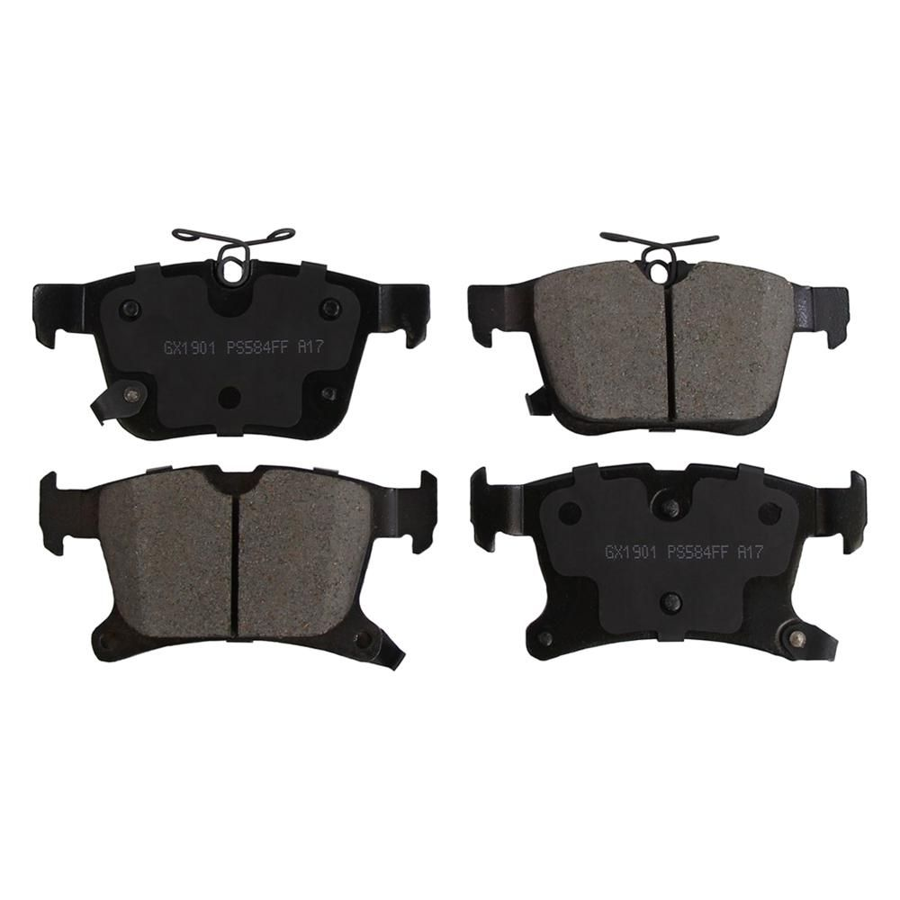 Monroe Brakes Prosolution Semi Metallic Brake Pads Fits 2017 2018 Chrysler Pacifica V6 Chrysler Pacifica Ceramic Brake Pads Brake Pads