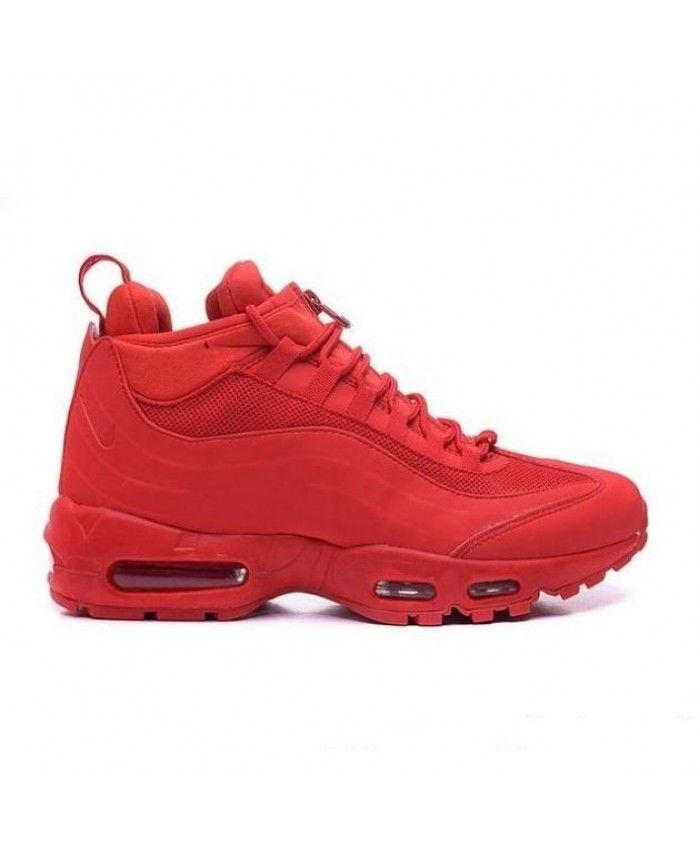 5f4ff37880 Nike Air Max 95 Sneakerboot In Red | sca | Nike air max, Air max 95 ...