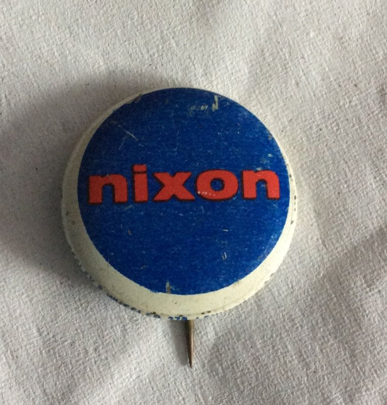 Vintage Richard Nixon For President Political Pin