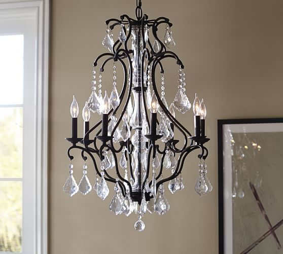 Pottery Barn Bronze Chandelier: Pottery Barn - Dream Crystal