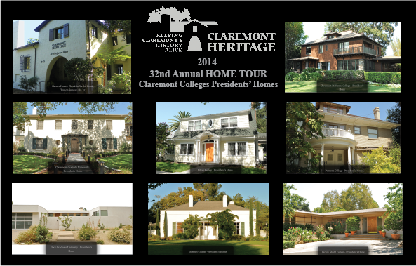 Claremont College Presidents' Homes  2014 HOME TOUR TICKETS ARE STILL AVAILABLE! for SUNDAY OCTOBER 12th  10:00 am - 4:00 pm
