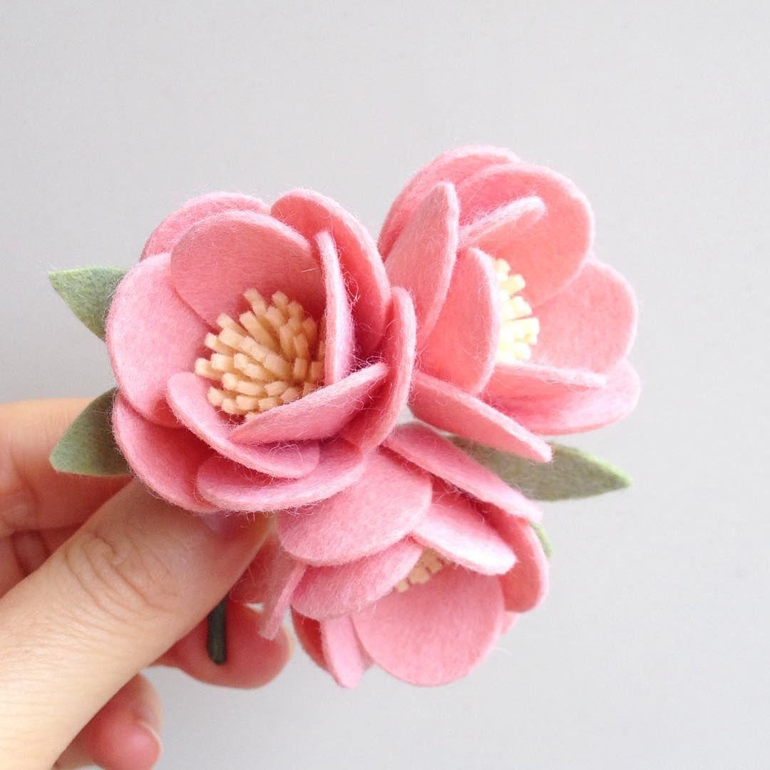 Pin by Puppituna 18 on Aneka Flanel | Pinterest | Felt flowers ...