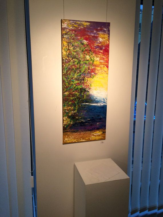 Large vertical painting, Large vertical art canvas, Long ...