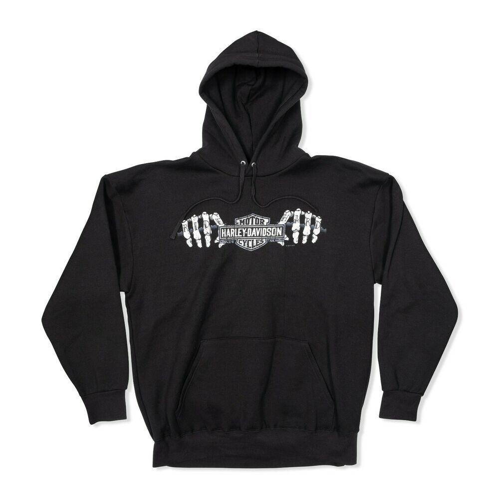 Black 30299948 Harley-Davidson Men/'s Eagle Piston Fleece Pullover Sweatshirt