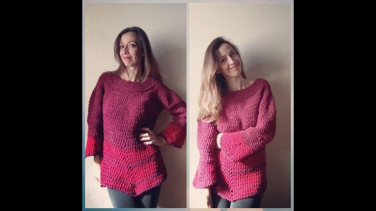 Bata De Frio Em Croche Com Fio Veludo Blusas Roupas De Croche