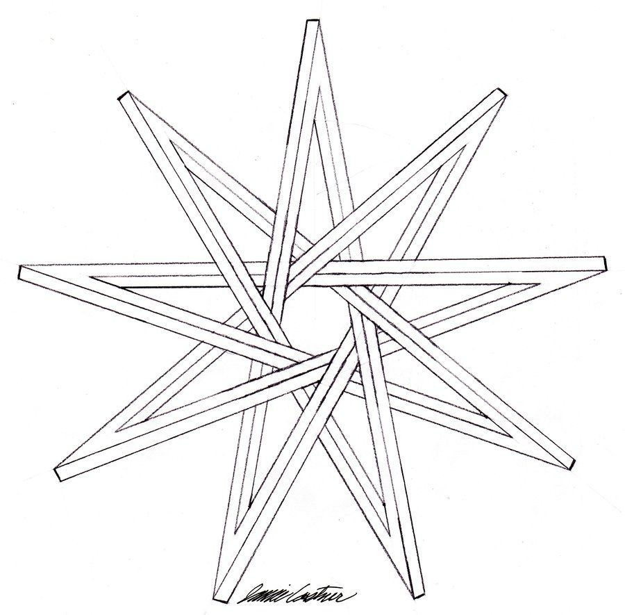 9 Sided Star   Nine Pointed Impossible Star by ~TheCelticPoet on ...