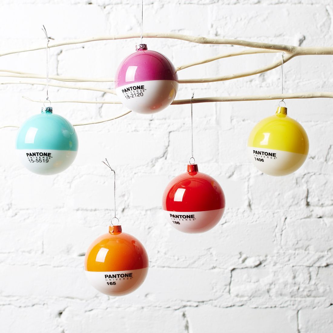 Love These Pantone Christmas Tree Ornaments