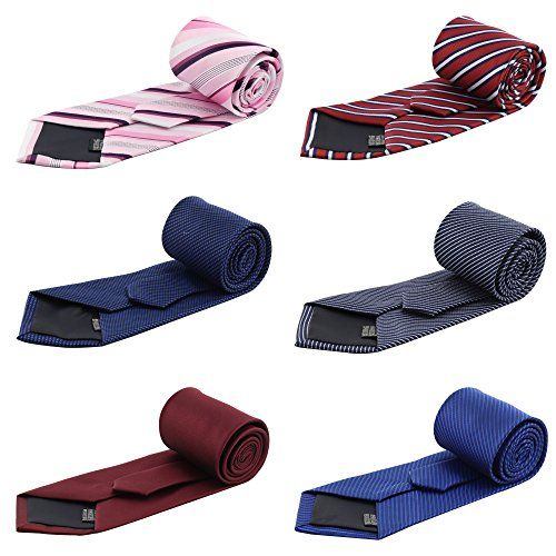 Mens Fashion Business Necktie Tie Mixed Set 6 Pack
