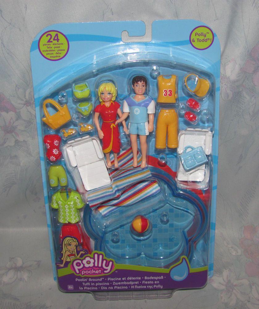 NEW Polly Pocket Doll with Polly Stick NIB