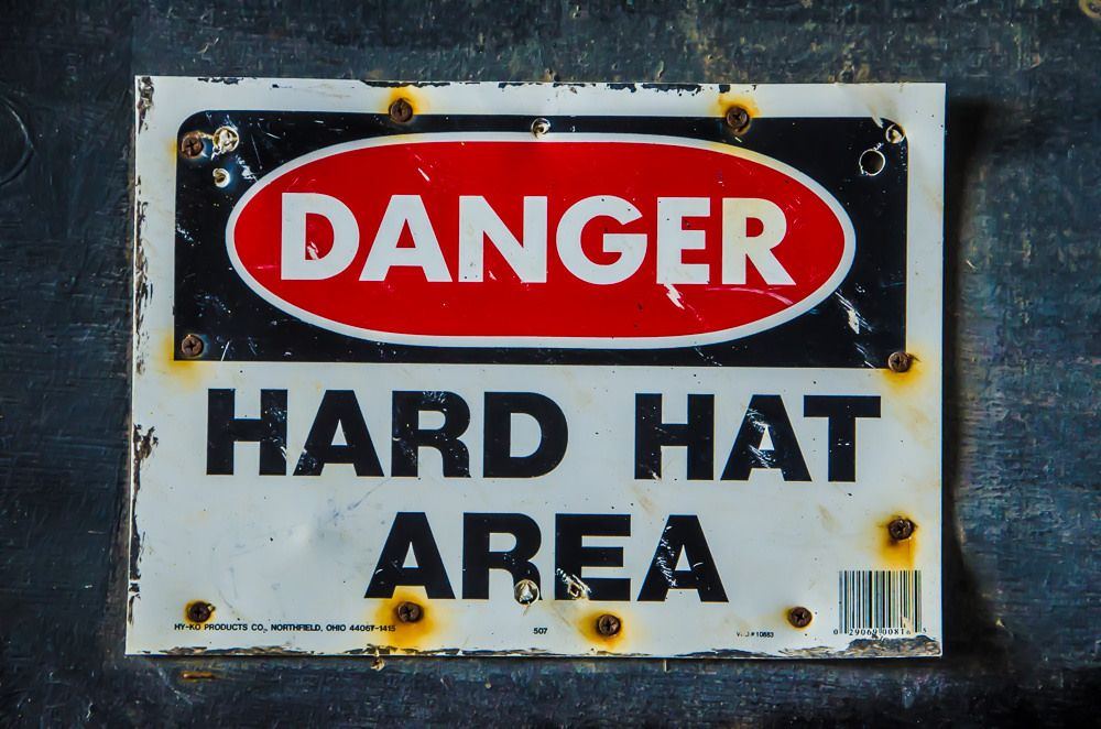 The DeConstruction Crew Danger sign, Signs