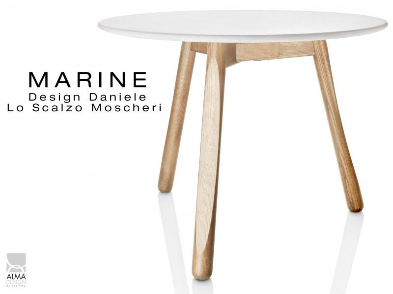 Marine table ronde pi tement 3 pieds pour salle manger for Table 6 usmc