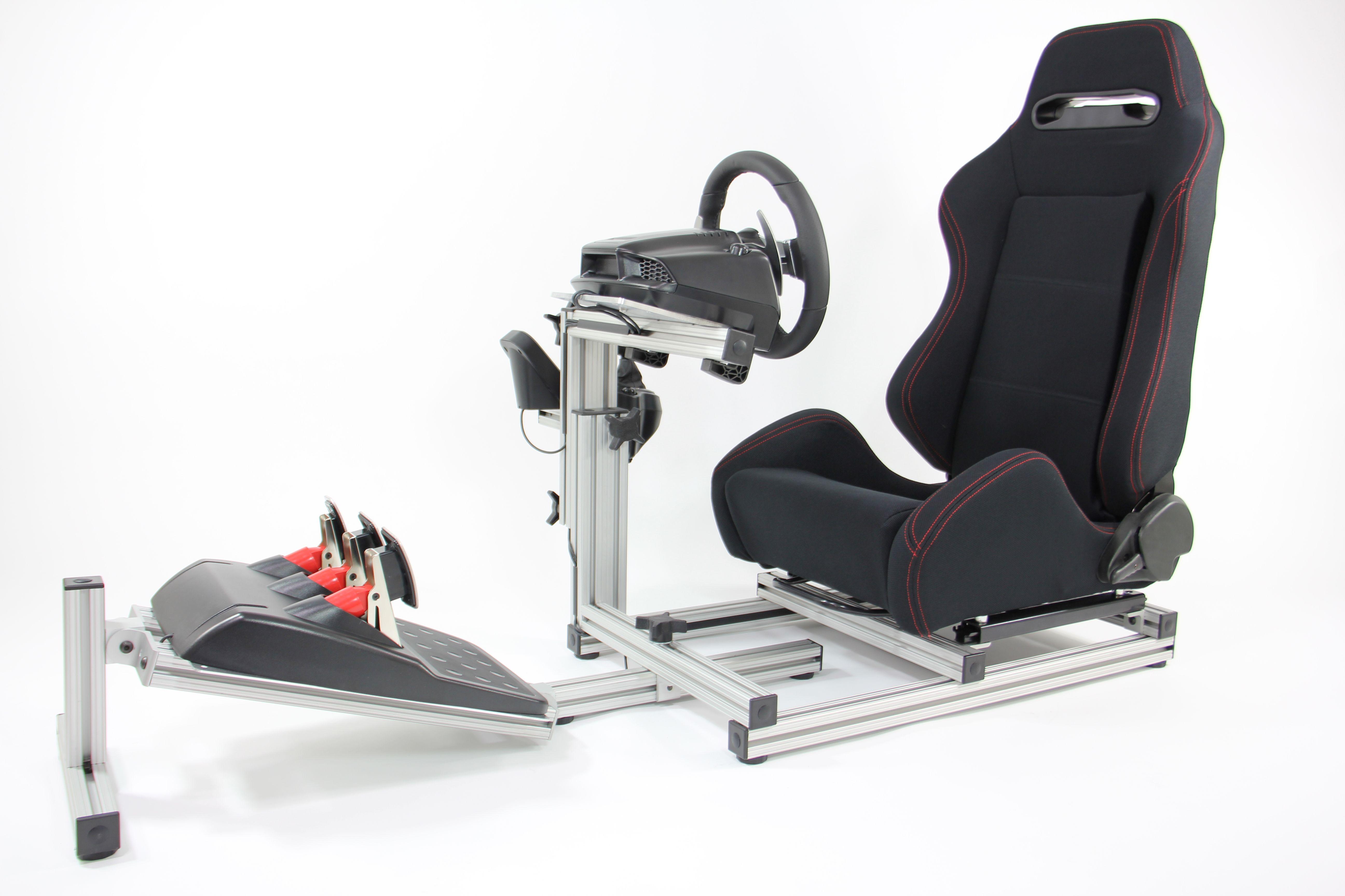 sim racing chair with wheels