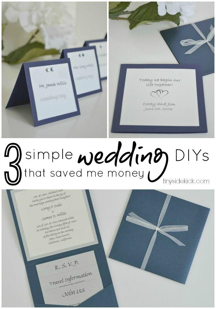 3 simple do it yourself wedding ideas wedding wedding anniversary 3 simple do it yourself wedding ideas solutioingenieria Gallery