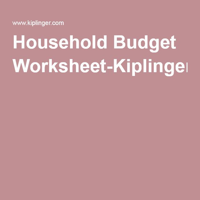 Worksheets Kiplinger Budget Worksheet household budget worksheet kiplinger home pinterest kiplinger