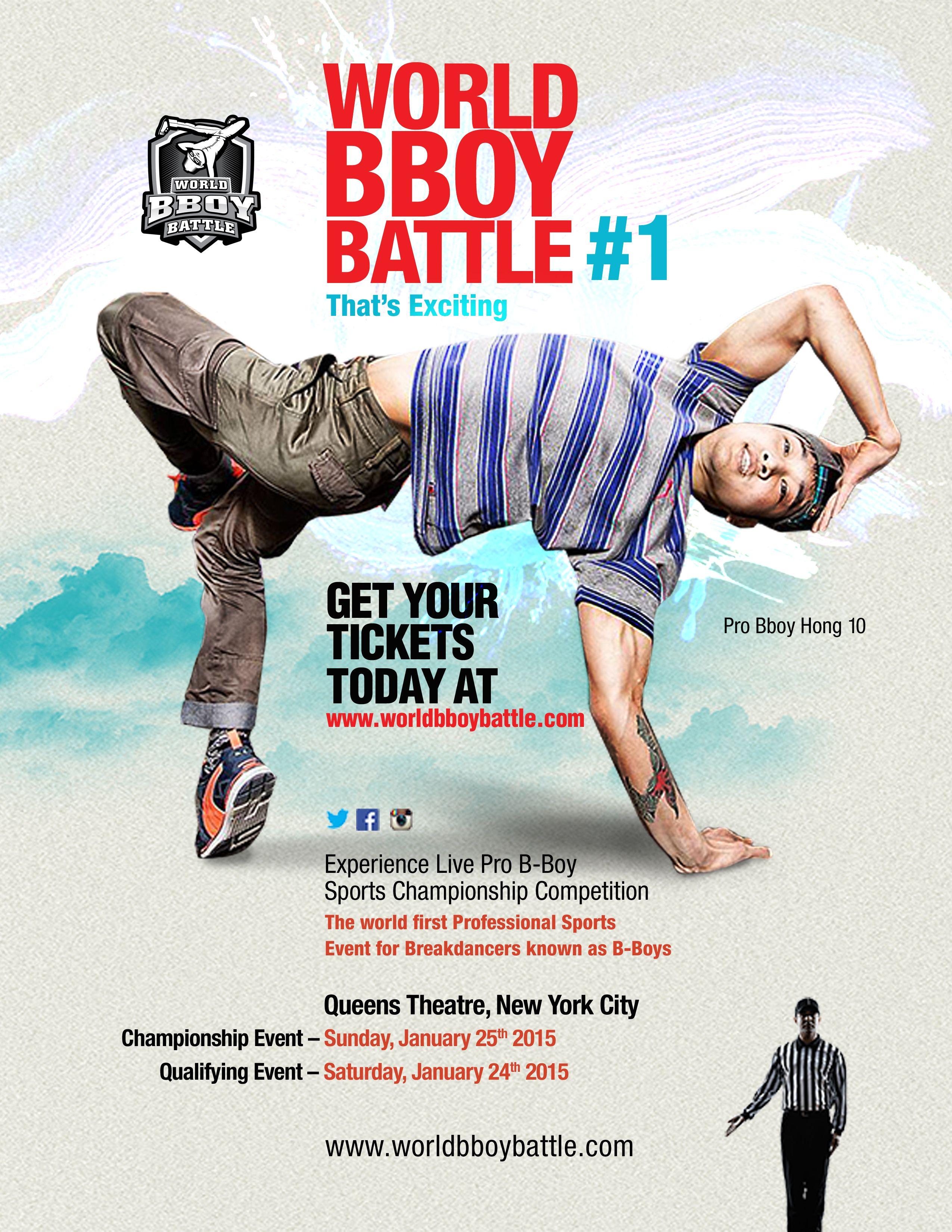 World Bboy Battle 1 Flyer