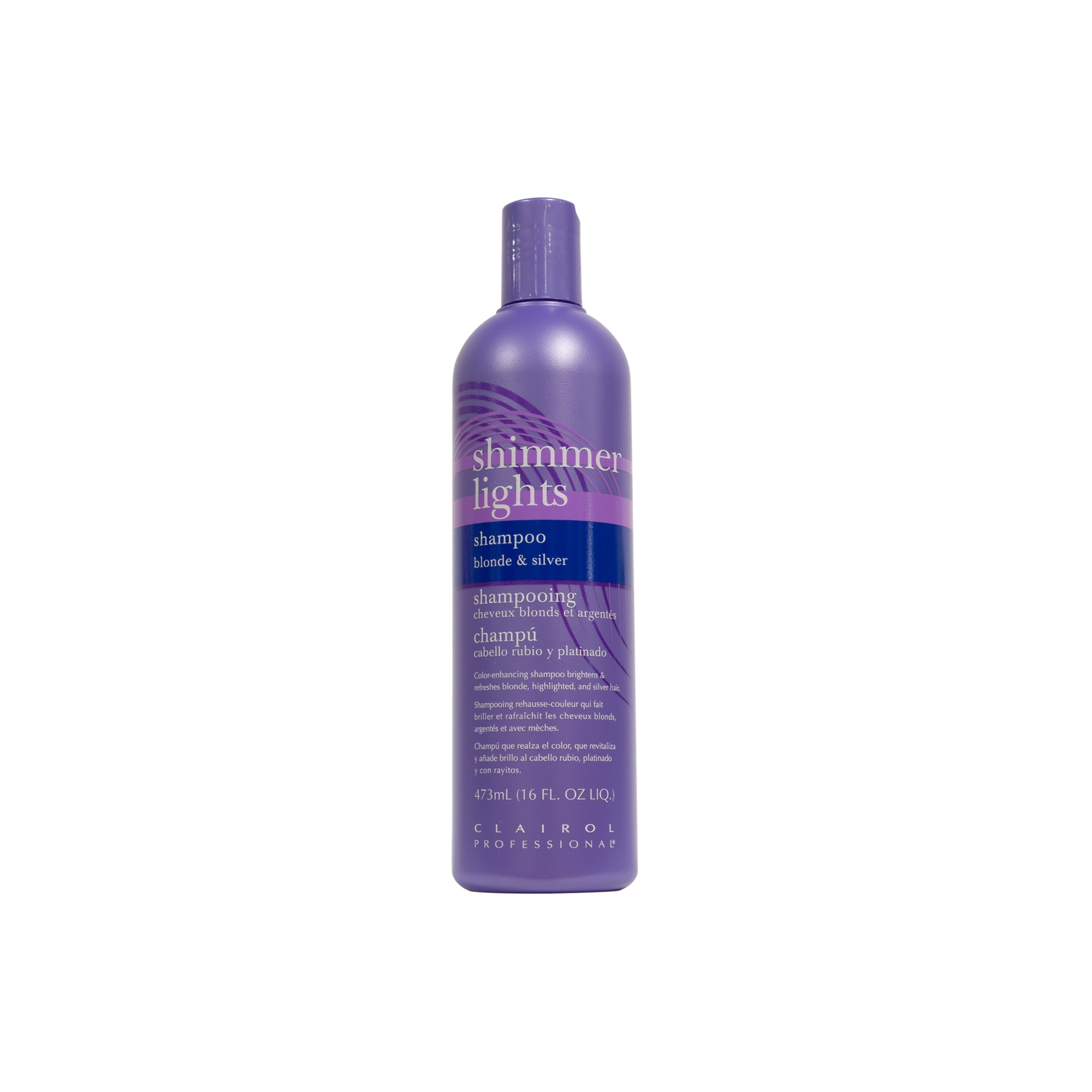 Clairol Professional Shimmer Lights Shampoo 16 Fl Oz Adult Unisex Shimmer Lights Shampoo Shimmer Lights Light Blonde