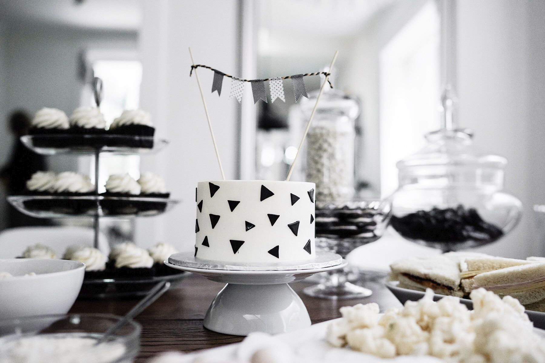 Monochrome Kids Birthday Party With Images Smash Cake Boy
