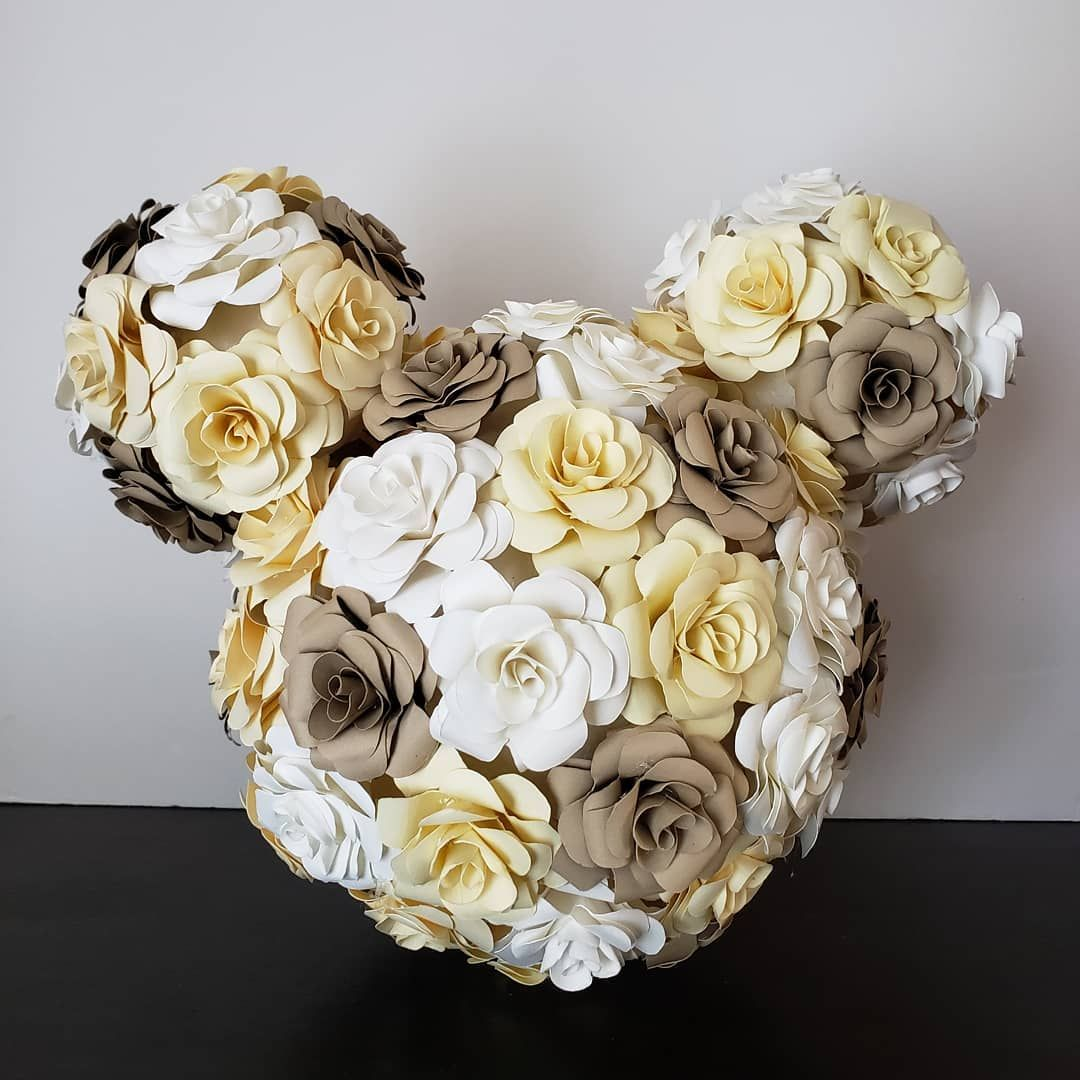 This Mickey Paper Flower Ball Can Be Centerpiece Bouquet Adding