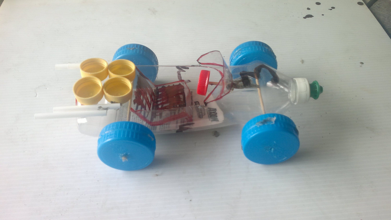 Como hacer un carrito con botellas de plastico tutorial - Que se puede hacer con botellas de plastico ...