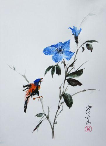 Aquarelle Abby Xieyi Peinture Chinoise Peinture Asiatique Peinture
