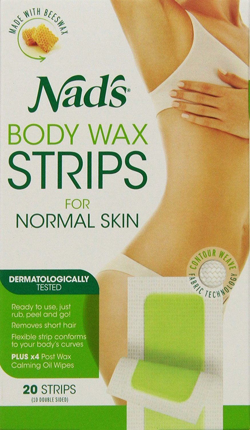 Nad's Body Wax Strips, 20 Count Continue to the product
