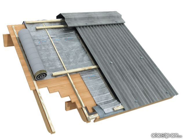 Resultado de imagen para techo de chapa construccion for Modelos de techos de madera y chapa
