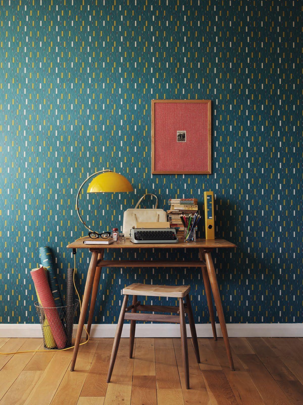 Sanderson retro prints pimp up your work space house pinterest