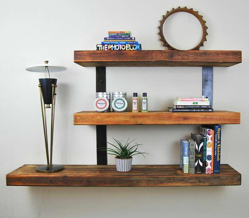 wooden wall mounted shelves - Wooden Wall Mounted Shelves For The Apartment Pinterest Wall