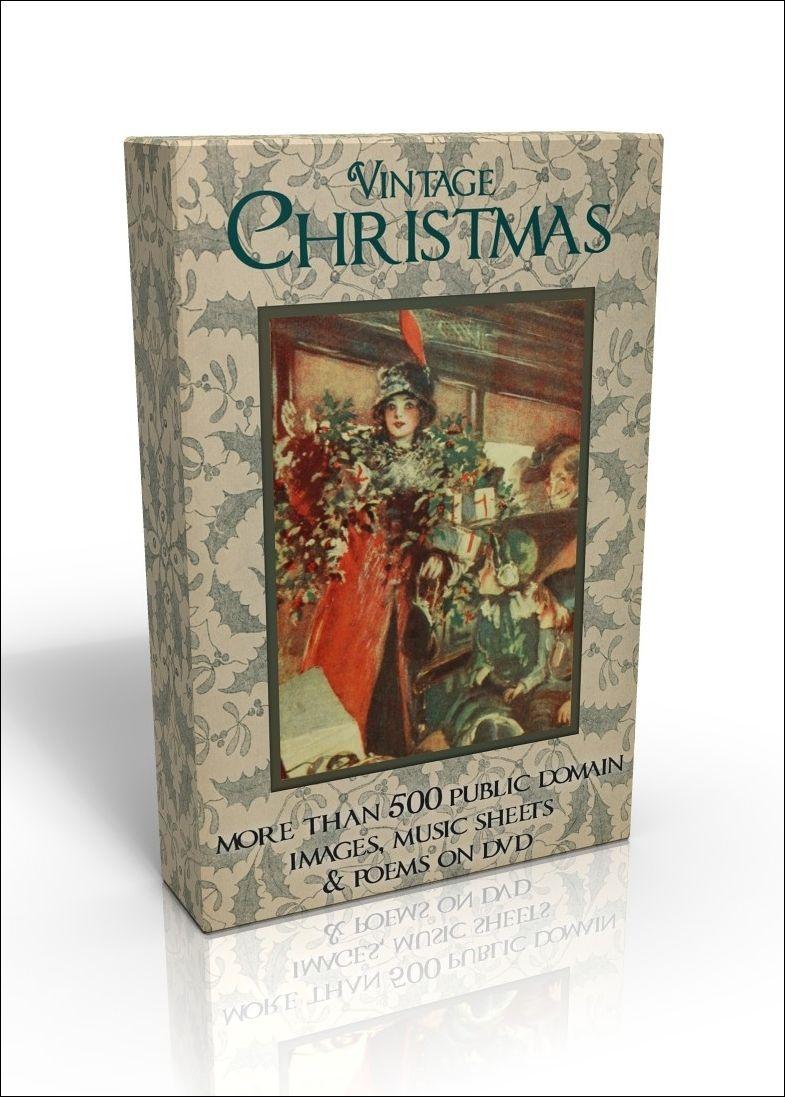 Public Domain Image DVD - Vintage Christmas | Vintage christmas, Image, Christmas illustration