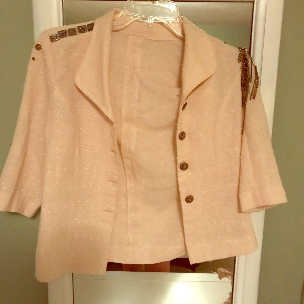 Vintage Coat With Jewel Embellishments.