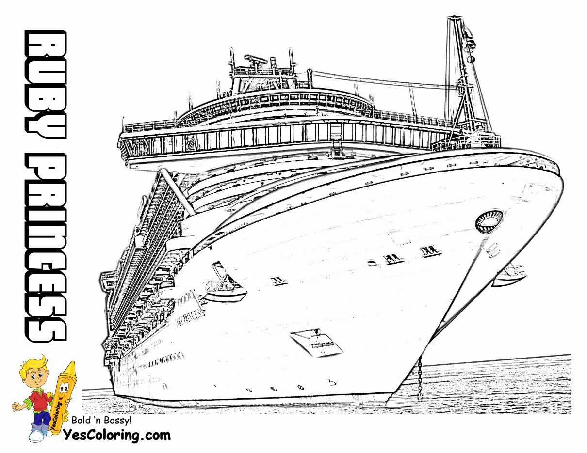 28 Cruise Ship Coloring Page in 2020 Cruise ship