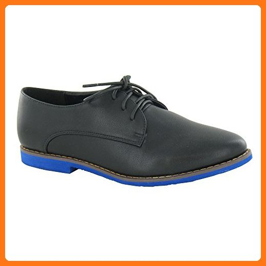 4239149420165 Spot On Womens/Ladies Colored Sole Lace Up Oxford Shoes (8 US ...