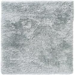 Photo of benuta Hochflor Shaggyteppich Lea Hellblau 200×200 cm – Langflor Teppich für Wohnzimmer benuta
