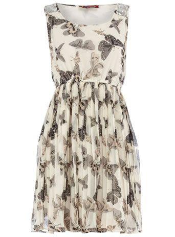 Dorothy Perkins  Grey butterfly dress