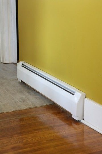 Spray Paint Your Baseboard Heaters Diy Springtimeupdates Baseboard Heating Baseboard Heater Baseboard Styles