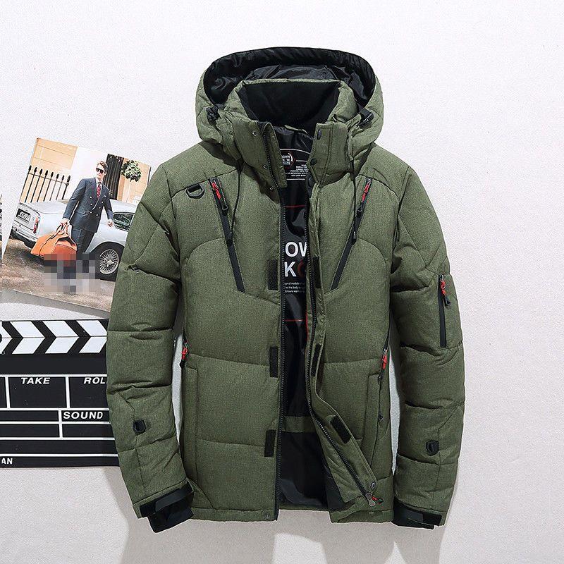 01ea88c23f5d Green Winter Warm Duck Down Jacket Ski Jacket Snow Hooded Coat Climbing  Oversize  fashion  clothing  shoes  accessories  mensclothing  coatsjackets  (ebay ...