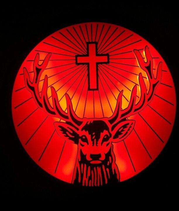 Jagermeister publicitary lamp deer logo