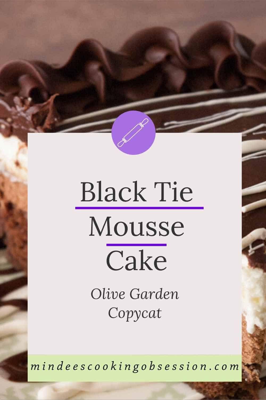 Black tie mousse cake recipe mousse cake chocolate