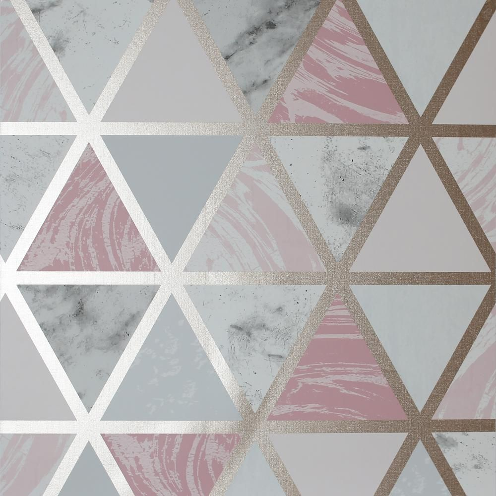Arthouse Marble Geo Pink Paper Strippable Roll Covers 55 Sq Ft 692205 The Home Depot In 2021 Geo Wallpaper Rose Gold Wallpaper Home Art
