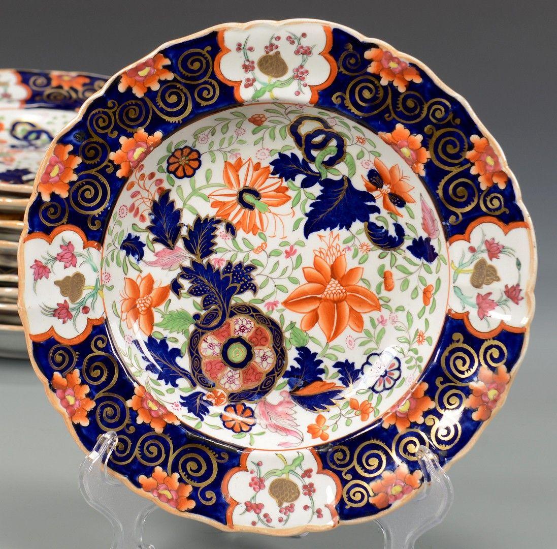 Antique Asian Imari Japanese Plate Oriental English England China Porcelain Old
