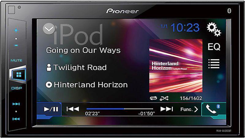 Pioneer Mvh Av290bt 2 Din Car 62 Touchscreen Digital Media