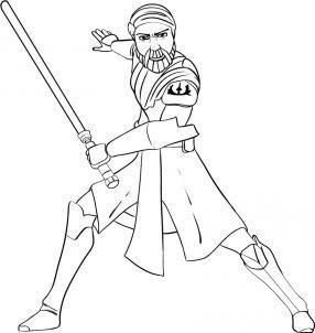 How To Draw Obi Wan Kenobi By Dawn Star Wars Drawings